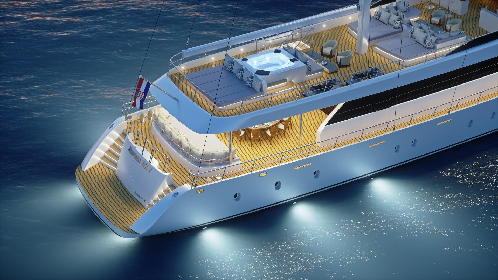 AURUM SKY - Luxury motor sailer for charter in Croatia